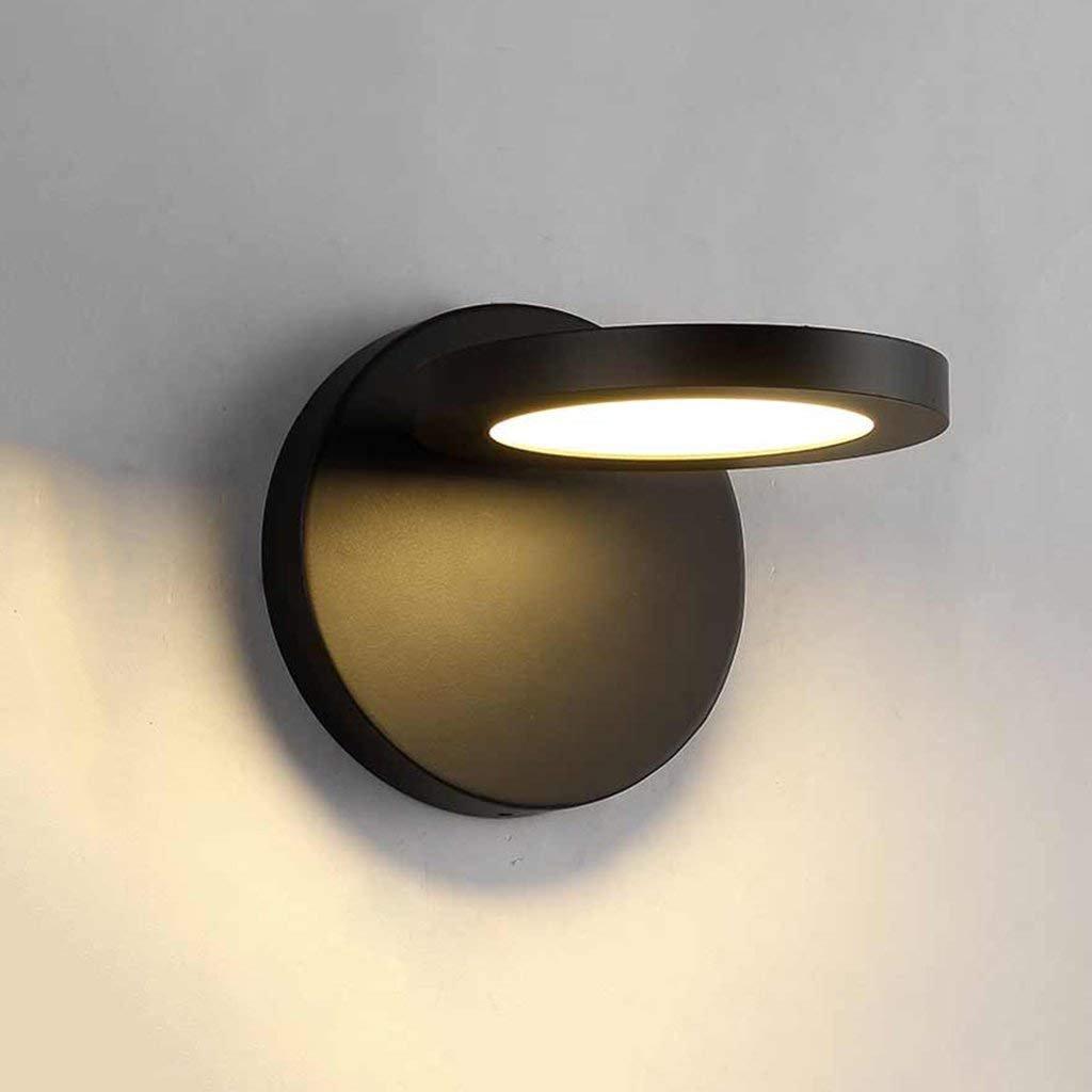 Wandleuchte Wandmontiert WandlampenPersönlichkeitsleswandlampe Ganglampenschlafzimmer-Nachttischlampe Hotel LED-Einfache Hintergrundwandlampe (Farbe   Schwarz)