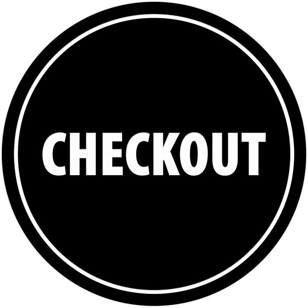 Signs ByLITA Circle Checkout Sign Brushed Silver X-Large