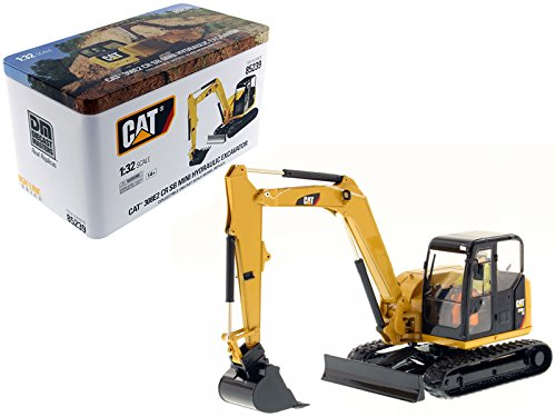 CAT Caterpillar 308E2 CR SB Mini Hydraulic Excavator with Working Tools and Operator High Line Series 1/32 Diecast Model by Diecast Masters 85239 ()