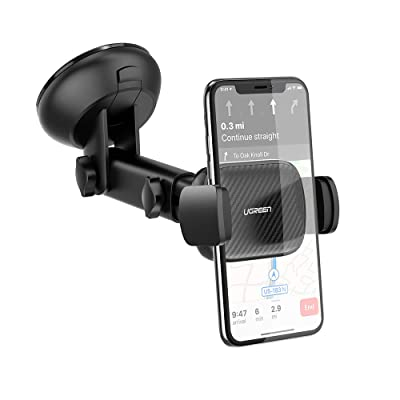 UGREEN Car Phone Mount Dashboard Car Holder Windshield Smartphone Cradle Strong Suction for iPhone 11 Pro Max, iPhone SE 2020, iPhone Xs X XR 8 Plus 7 6 6S, Galaxy S10+ S9 S8 Note 9 8, LG G8X G7 V50