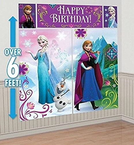 Defonia Scene Setter Happy Birthday Backdrop Party Wall Decoration Kit Anna -
