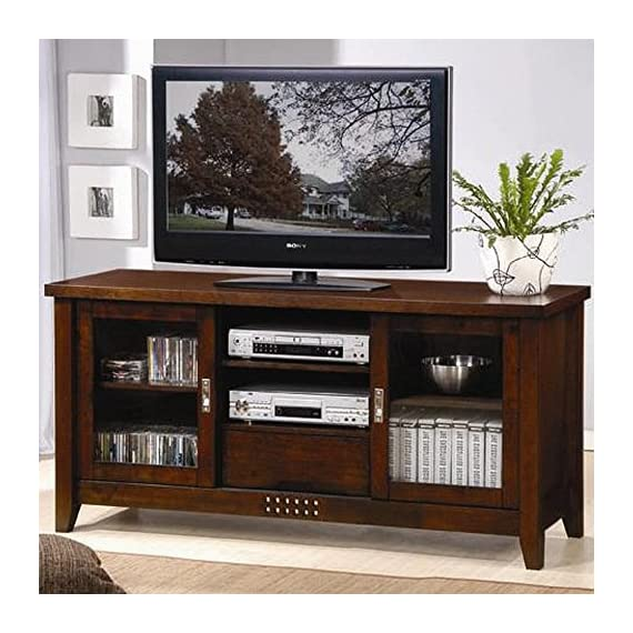 Coaster Home Furnishings Handcrafted TV Console Reclaimed Wood - Includes One solid TV stand Polished piece in absolute new condition Can be placed in sitting room or living room. - tv-stands, living-room-furniture, living-room - 51H89fl9yIL. SS570  -