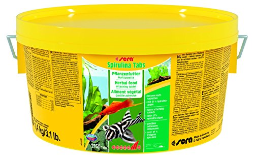 sera 980 Spirulina Tabs 3.1 lb 1, 4 kg Pet Food, One Size by Sera