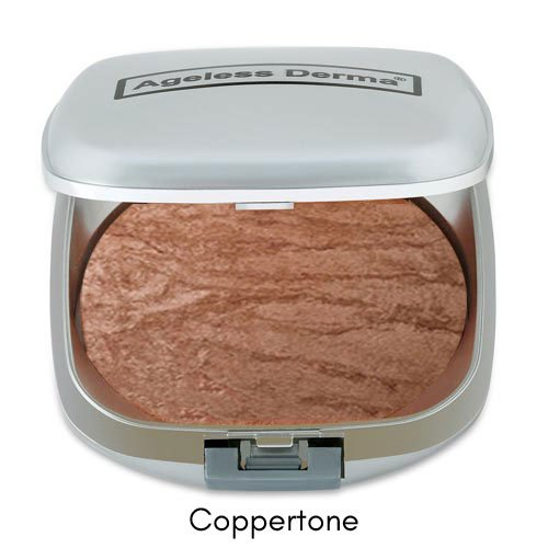 Ageless Derma Baked Mineral Makeup Healthy Blush with Botanical Extracts (Coppertone Swirl) Made in USA