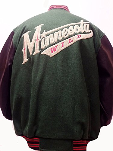 G-III Sports Minnesota Wild Wool and Pu-Leather Button up Jacket