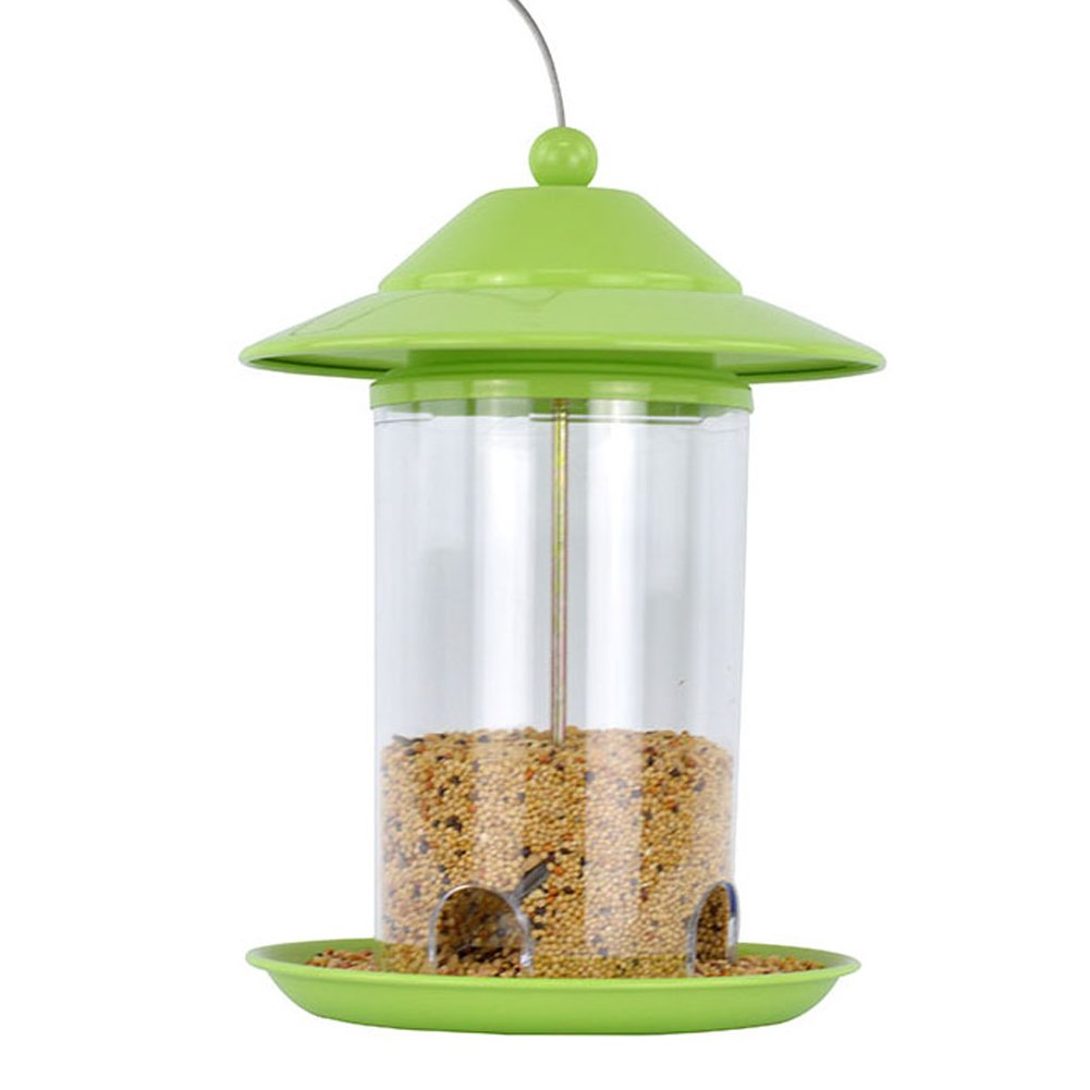 Green Garden Hanging Bird Feeder Great for Attracting Birds Outdoors Backyard,Green