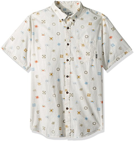 (Billabong Men's Sundays Mini Short Sleeve Shirt Stone Small)