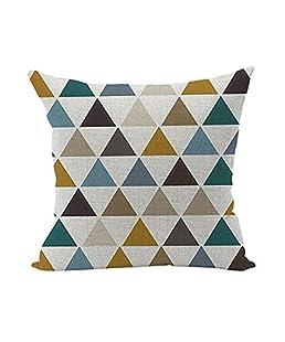 Caomoa Fodere per cuscini in lino e gatto carino, federa decorativa federa per divano camera da letto auto 18 x 18 pollici 45 x 45 cm (j)