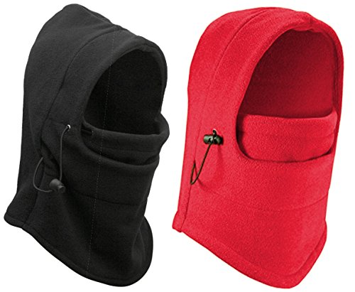 1 Thermal (Eforstore 6 in 1 Thermal Fleece Balaclava Hat Hood Police Swat Ski Bike Wind Stopper Mask New Caps)
