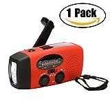 Best Flashlights With Waterproof Selfs - Asdomo Emergency Radio, Emergency Weather Radio Hand Crank Review