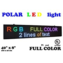 """LED RGB color sign 40"""" x 8"""" with high resolution P5 and new SMD technology. Perfect solution for advertising"""