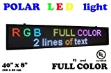 LED RGB color sign 40'' x 8'' with high resolution P5 and new SMD technology. Perfect solution for advertising