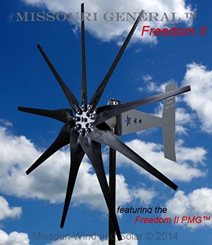2000 Watt 9 Blade Missouri General Freedom II Wind Turbin...