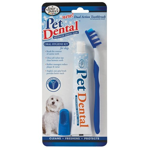 PetDental Oral Hygiene Kit for Dogs with Dual Action Toothbrush, My Pet Supplies