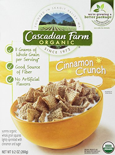 CASCADIAN FARM CEREAL CNNMN CRUNCH, 9.2 OZ