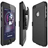 iphone 5 belt clip - iPhone 5S Case, Rhidon Case Combo Super Slim Hard Shell Layer Holster Open-Face Sport Case with Holster Kickstand and Locking Belt Swivel Clip for Apple iPhone 5/5S/SE (black)
