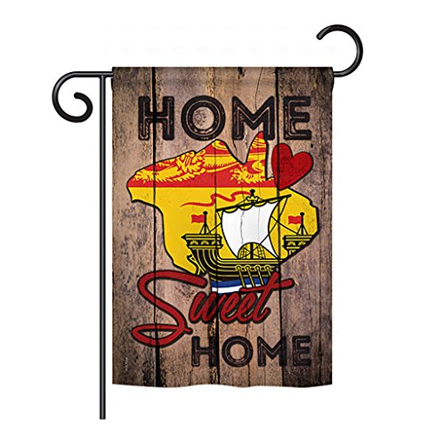 Canada Provinces New Brunswick Home Sweet Home - Flags of the World Nationality Decoration - 13