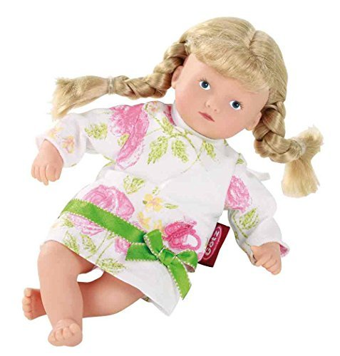 Gotz Mini Muffin - 8 inch Doll Baby Doll with Blue eyes and Blonde Pigtails by - Gotz Muffin Blonde