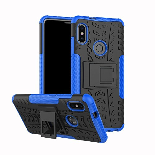Funda XiaoMi Mi 6X,AOYIY XiaoMi Mi 6X Cubierta Suave de TPU + Contraportada Dura de la PC Funda Anti-Rasguño Anti-Golpes Cover Protectora para XiaoMi Mi 6X Protectora Funda-púrpura azul