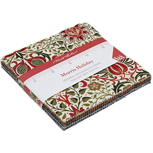 Morris Holiday Charm Pack By Moda; 42-5 Inch Precut Fabric Quilt Squares (Fabric Holidays Quilt Cotton)