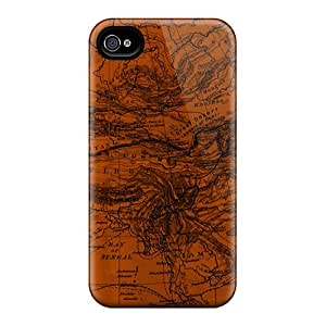 Hot Snap-on Map 3 Hard Cover Case/ Protective Case For Iphone 4/4s