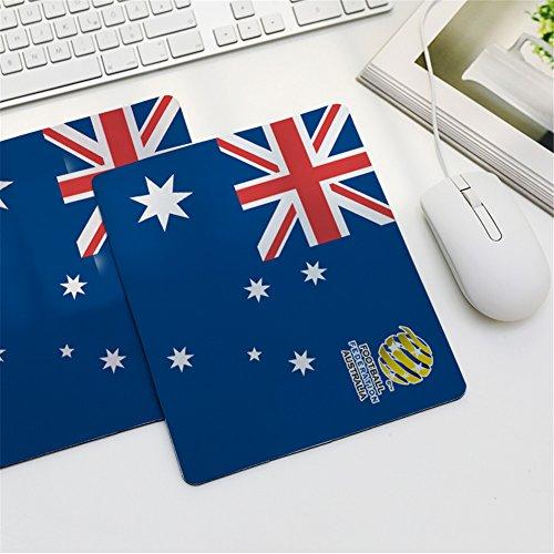 LL-Coeur World Cup Mouse Pad Computer Keyboard Mat Football Office Desk Pad (Australia, 240 x 200 x 2 mm)