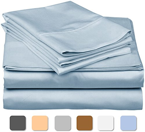 600 Thread Count 100% Long Staple Soft Egyptian Cotton SheetSet, 4 Piece Set, TWIN SHEETS,upto 17