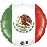 18'' Mexican Flag Mylar Foil Balloon - Pack of 5