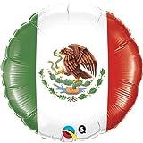 18%22 Mexican Flag Mylar Foil Balloon %2