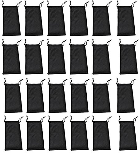 36 Pack Black Microfiber Sunglasses Pouches by PriceMeNow