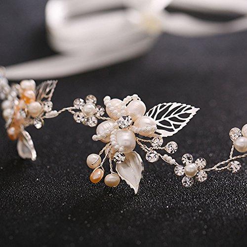 Rhinestone Crystal Wedding Headband-Silver
