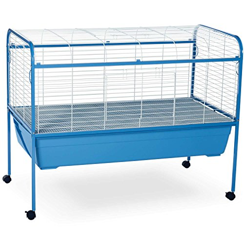 Prevue Pet Products Small Animal Cage with Stand 620 Powder Blue and White, 47-Inch by 22-Inch by 37-Inch by Prevue Hendryx