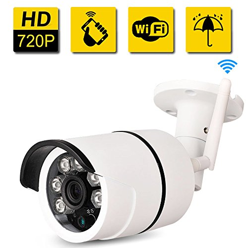 Bullet-IP-Camera-Outdoor-SDETER-Waterproof-720P-HD-Home-Security-Surveillance-Easy-Setup-Built-in-16G-Memory-Card-Remote-View-Via-Smart-PhoneTabletPC-PlugPlay-Night-Vision-Alarm