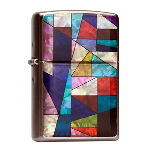 mother-of-pearl-handmade-flip-top-windproof-metal-chrome-blue-red-violet-colorful-patchwork-design-w
