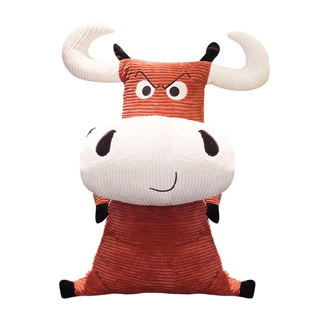 marron 120cm Peluches Géante Animal en Vache Démon Roi Taureau Oreiller Poupée Poupée Anniversaire Cadeau (Couleur   bleu, Taille   120cm)