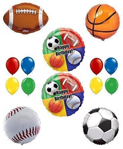 Happy Birthday Sport Theme Party Balloon Decoration Kit]()