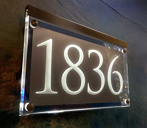 Illuminated Crystal Address Plaque! The personalized address numbers shine brilliantly! by Crystal