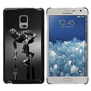 Be Good Phone Accessory // Dura Cáscara cubierta Protectora Caso Carcasa Funda de Protección para Samsung Galaxy Mega 5.8 9150 9152 // Mech Robot