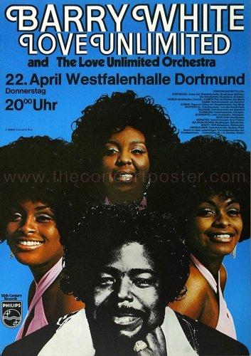 Barry White - White Gold 1974 - Concert Poster Plakat