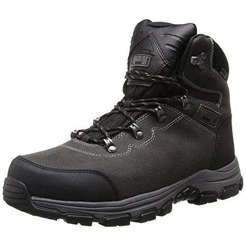 Magnum Men's Austin Mid Steel Toe Waterproof Work Boot, Charcoal, 8.5 M US