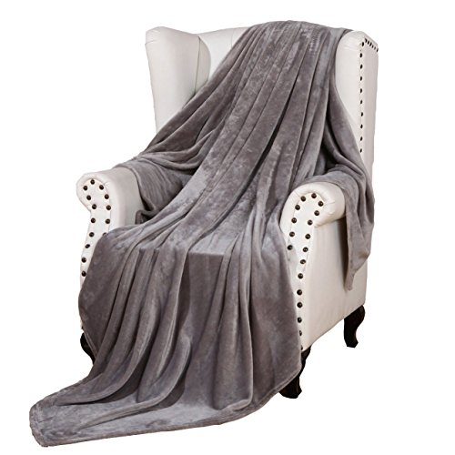 Soft Cozy Throws - Snuz Flannel Throw Blanket Luxury Grey Twin Size 60x80 Inches Lightweight Plush Microfiber Fleece All Season Super Soft Cozy Blanket for Bed Couch and Birthday Gift Blankets by