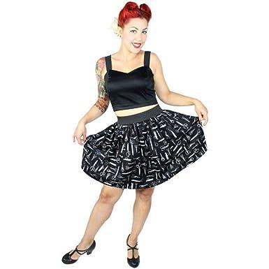 fec956a29fe2 Amazon.com: Hemet Vintage Scissors Skirt Black: Clothing