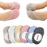 Baby Girls Boys Socks No Show Non-skid for Toddler 5-6 Pairs …