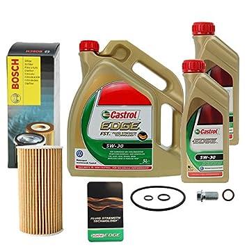 Atec 10490430 Kit Filtro de Aceite Bosch y 7 L Castrol Edge Fst 5W30 Longlife: Amazon.es: Coche y moto