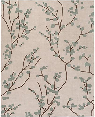 angelo HOME by Surya Hudson Park HDP-2001 Transitional Hand Tufted 100 Polyester Silver Cloud 8 x 10 Floral Area Rug