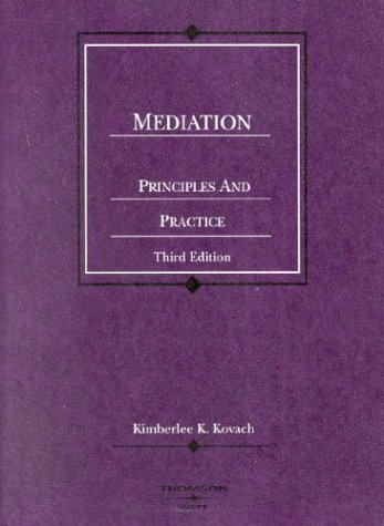 Mediation, Principles and Practice (Coursebook)