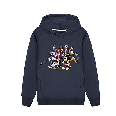 Unisex Kingdom Hearts Sudadera con Capucha Prendas Entre Padres e Hijos Top con Capucha Simple Sudadera con Capucha Elegante Abrigo Casual Manga Larga ...