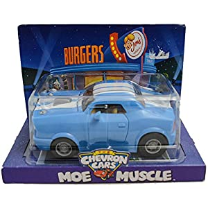 Chevron The Cars MOE MUSCLE Retired Collectible 2009 Classic Toy Car Blue Techron