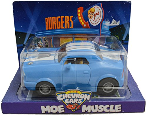 (Chevron The Cars MOE MUSCLE Retired Collectible 2009 Classic Toy Car Blue)