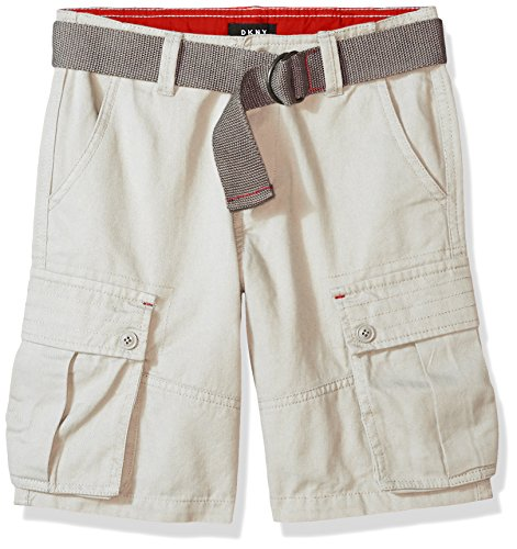 DKNY Big Boys' Casual Short, Stone-Kbxob, 12 - Dkny Kids